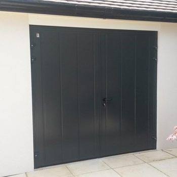 Black Side Hinged Garage Door