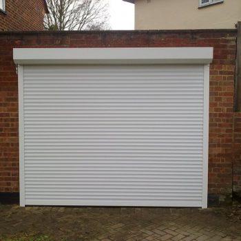 White Insulated Garage Door