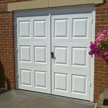 White Side Hinged Garage Door