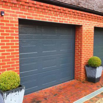 Gloss Grey Sectional Garage Door