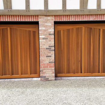 Two Wooden Garage Doors