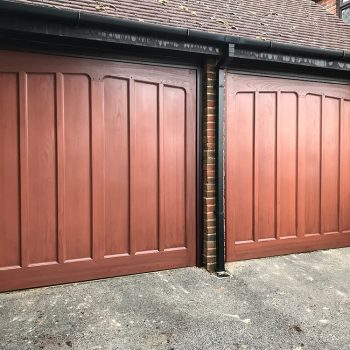Two Wooden Wessex Garage Doors